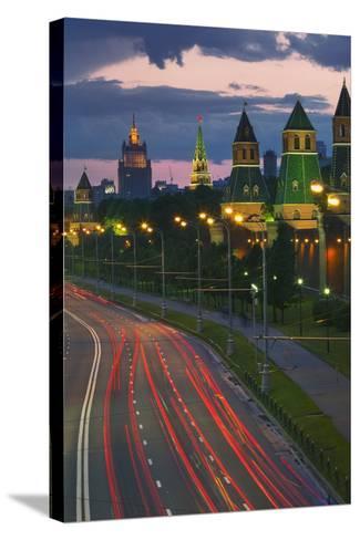 Kremlevskaya Nab at Dusk-Jon Hicks-Stretched Canvas Print