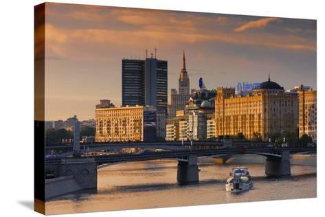 Skyline over the Moscow River-Jon Hicks-Stretched Canvas Print