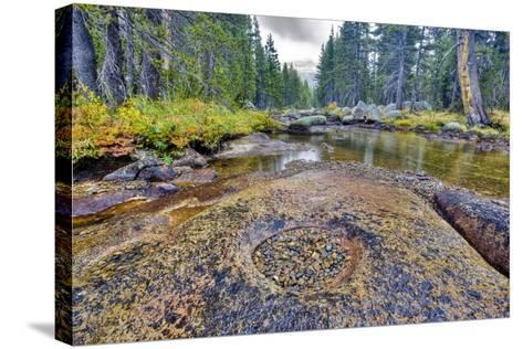 Colorful Rocks in Granite Bowl-Doug Meek-Stretched Canvas Print