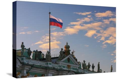 The State Hermitage Museum.-Jon Hicks-Stretched Canvas Print