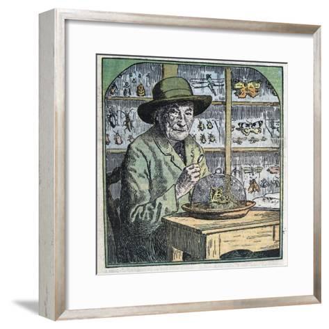 Portrait of Jean-Henri Fabre Entomologist-Stefano Bianchetti-Framed Art Print