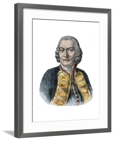 Portrait of Lord George Anson-Stefano Bianchetti-Framed Art Print