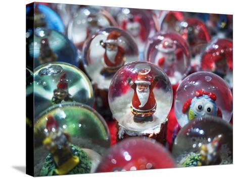 Snow Globes for Sale in the Verona Christmas Market, Italy.-Jon Hicks-Stretched Canvas Print