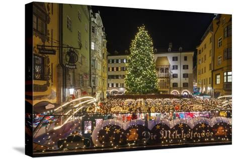 The Old Town Christmas Market, Innsbruck, Austria.-Jon Hicks-Stretched Canvas Print
