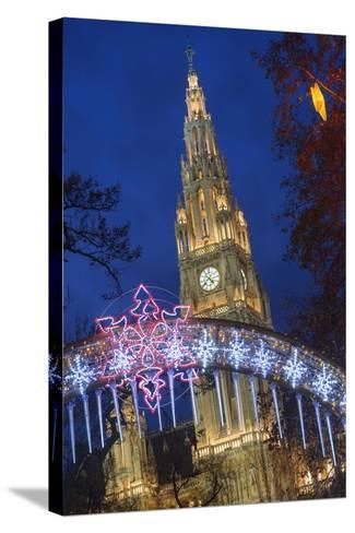 The Viennese Christmas Market, Vienna, Austria.-Jon Hicks-Stretched Canvas Print