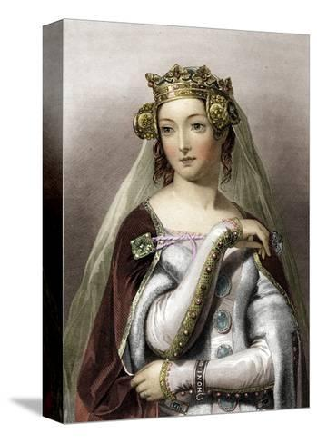 Portrait of Queen of England Philippa of Hainault--Stretched Canvas Print