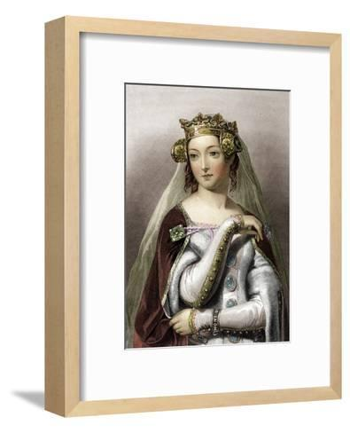 Portrait of Queen of England Philippa of Hainault--Framed Art Print