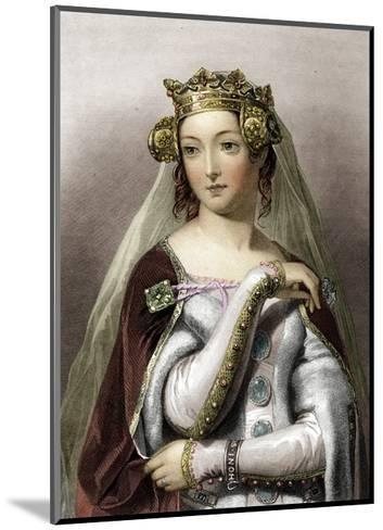 Portrait of Queen of England Philippa of Hainault--Mounted Giclee Print