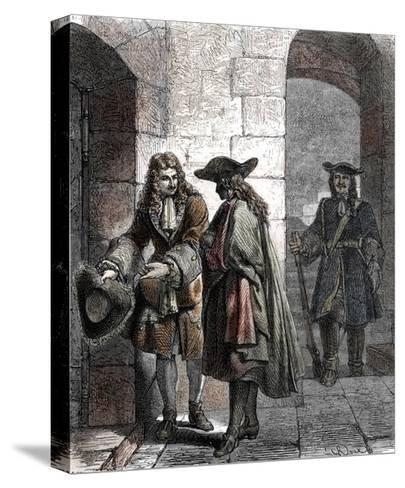 Portrait of the Man in the Iron Mask, 17Th Century--Stretched Canvas Print