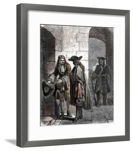 Portrait of the Man in the Iron Mask, 17Th Century--Framed Art Print