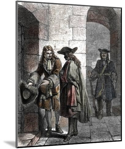 Portrait of the Man in the Iron Mask, 17Th Century--Mounted Giclee Print