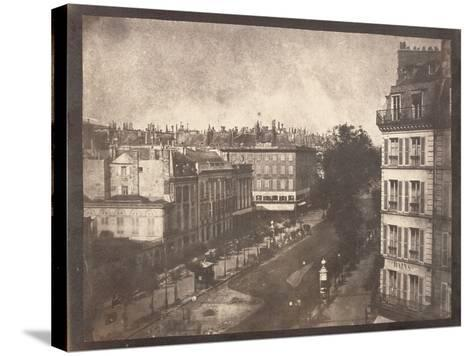 View of the Boulevards of Paris by William Henry Fox Talbot--Stretched Canvas Print