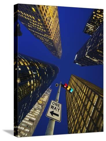 Downtown Houston.-Jon Hicks-Stretched Canvas Print