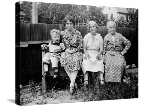Four Generations Sit for a Portrait, Ca. 1928.-Kirn Vintage Stock-Stretched Canvas Print