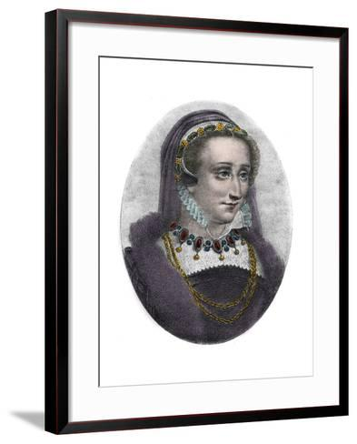 Portrait of Queen Jeanne D'albret of Navarre-Stefano Bianchetti-Framed Art Print