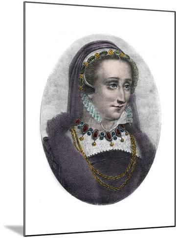 Portrait of Queen Jeanne D'albret of Navarre-Stefano Bianchetti-Mounted Giclee Print