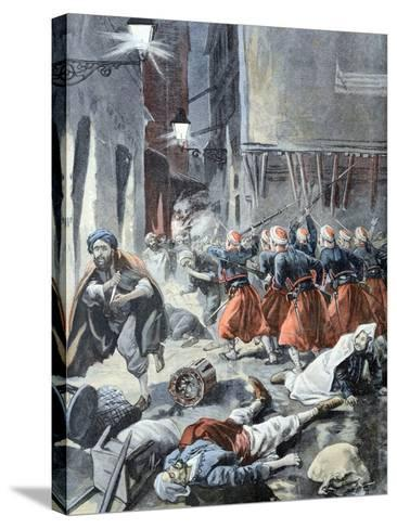 Rebellion in Algiers Algeria 1898-Chris Hellier-Stretched Canvas Print