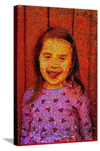 Little Girl Laughing.-Andr? Burian-Stretched Canvas Print