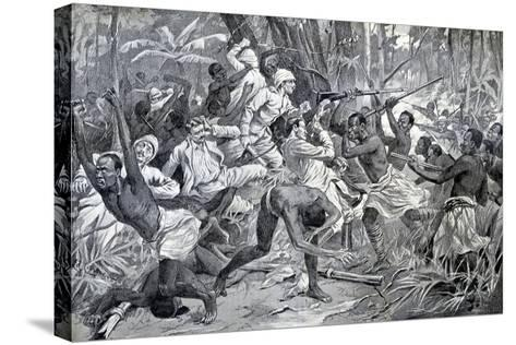 Colonial Struggle in Benin 1897-Chris Hellier-Stretched Canvas Print