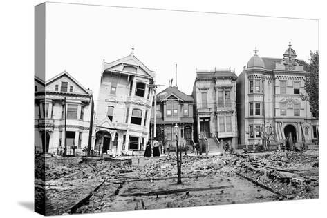 Personal Snapshot of Immediate Post-Earthquake San Francisco in 1906.-Kirn Vintage Stock-Stretched Canvas Print
