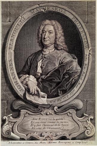 Portrait of Johann Bernouilli--Stretched Canvas Print