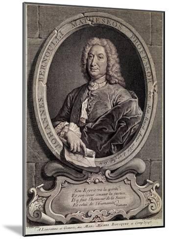 Portrait of Johann Bernouilli--Mounted Giclee Print