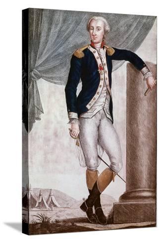 Portrait of Gilbert Du Motier, Marquis De Lafayette--Stretched Canvas Print