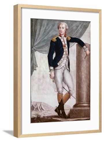 Portrait of Gilbert Du Motier, Marquis De Lafayette--Framed Art Print