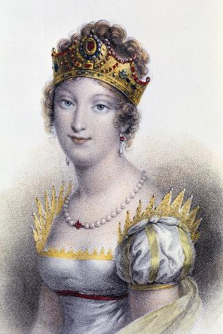 Portrait of Marie Louise, Duchess of Parma--Stretched Canvas Print