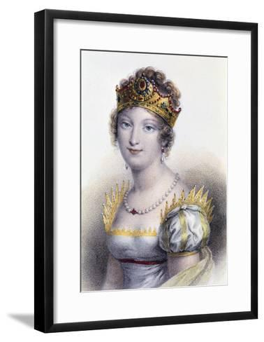 Portrait of Marie Louise, Duchess of Parma--Framed Art Print