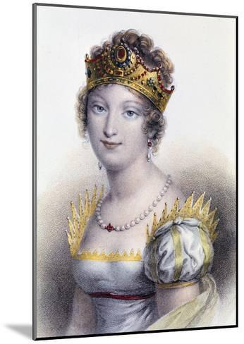 Portrait of Marie Louise, Duchess of Parma--Mounted Giclee Print