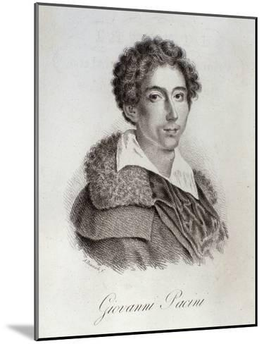 Portrait of Giovanni Pacini--Mounted Giclee Print
