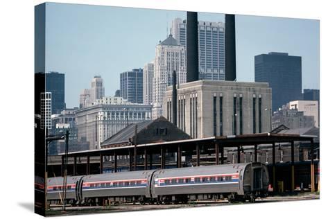 Amtrak Train in Railway Sidings, Chicago Union Station, Illinois, Usa, 1979-Alain Le Garsmeur-Stretched Canvas Print