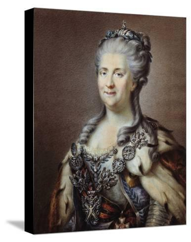 Portrait of the Empress of Russia Catherine II the Great--Stretched Canvas Print