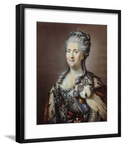 Portrait of the Empress of Russia Catherine II the Great--Framed Art Print