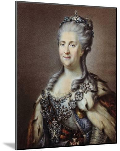 Portrait of the Empress of Russia Catherine II the Great--Mounted Giclee Print