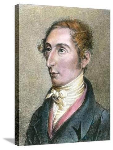 Portrait of German Composer Carl Maria Von Weber--Stretched Canvas Print