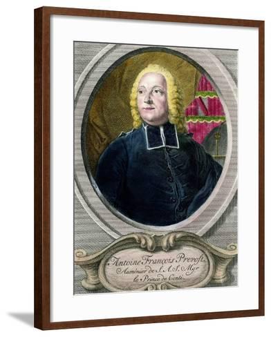 Portrait of Antoine Francois Prevost D'exiles, known as Abbe Prevost--Framed Art Print