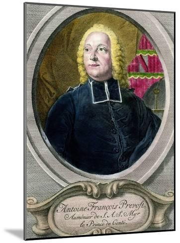 Portrait of Antoine Francois Prevost D'exiles, known as Abbe Prevost--Mounted Giclee Print