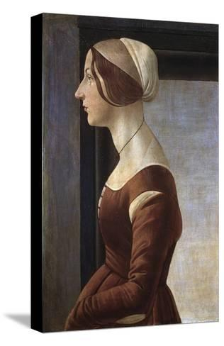 Portrait of a Young Lady by Sandro Botticelli--Stretched Canvas Print
