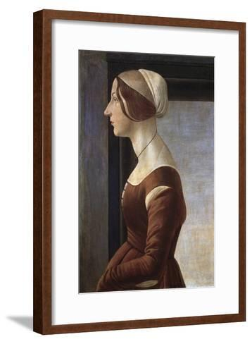 Portrait of a Young Lady by Sandro Botticelli--Framed Art Print