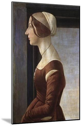 Portrait of a Young Lady by Sandro Botticelli--Mounted Giclee Print