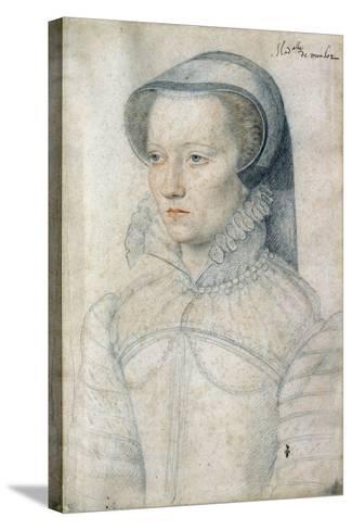 Portrait of Diane De Clermont, Demoiselle Montlaur - by Francois Clouet--Stretched Canvas Print