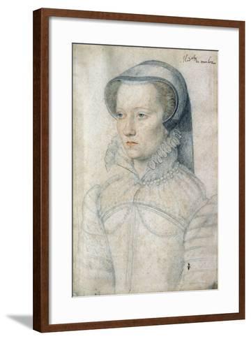 Portrait of Diane De Clermont, Demoiselle Montlaur - by Francois Clouet--Framed Art Print