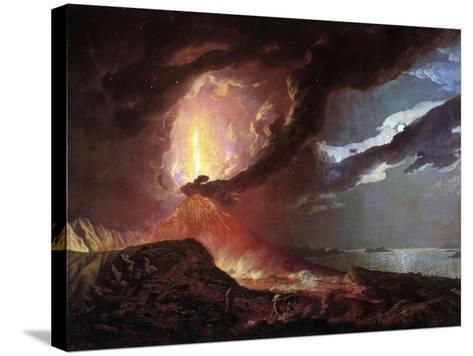 Vesuvius in Eruption, 1776 by Joseph Wright of Derby--Stretched Canvas Print