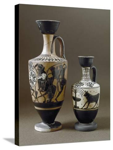 Greek Art : Black-Figure Ceramic Vases--Stretched Canvas Print