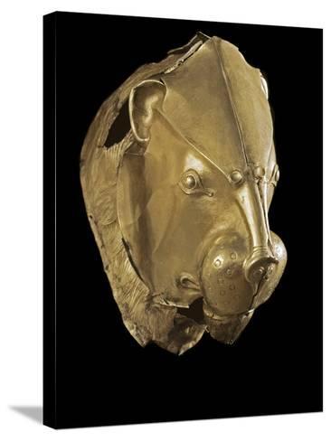 Mycenaean Art : Gold Lion's Head Rhyton--Stretched Canvas Print