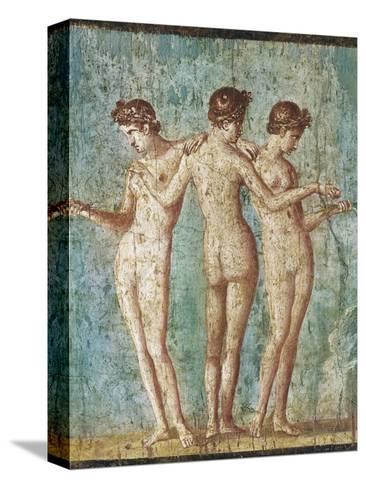 Roman Art : the Three Graces--Stretched Canvas Print
