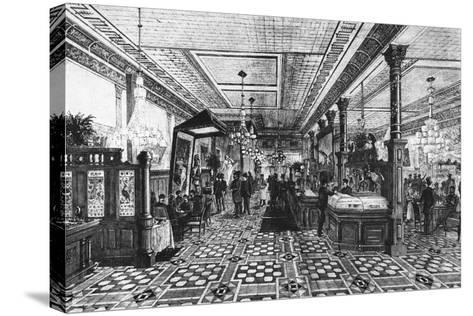 Hoffman Bar Room by F.G. De Fontain--Stretched Canvas Print