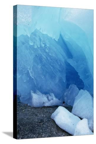 Blue Glacial Ice of Nigardsbreen Glacier, Norway-Paul Souders-Stretched Canvas Print